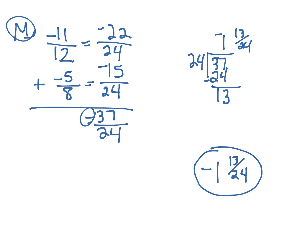 worksheet Subtracting Whole Numbers From Fractions showme subtract negative fractions most viewed thumbnail