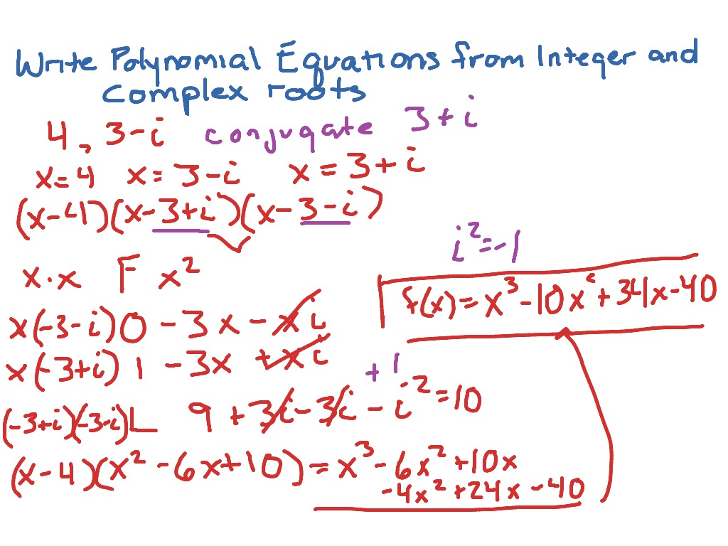 Showme writing polynomial functions given zeros most viewed thumbnail writing polynomial equations from complex falaconquin