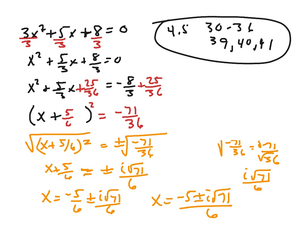 Showme algebra 2 lesson 45 most viewed thumbnail algebra 2 45 completing the square ccuart Image collections